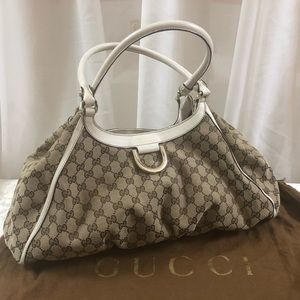 🆕 Gucci D Ring Large monogrammed Hobo 👜